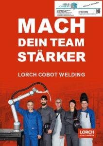 Deckblatt Lorch Schneider COBOT Flyer Mach dein Team stärker Jörg Schneider Schweisstechnik weldix.de Cobot Welding